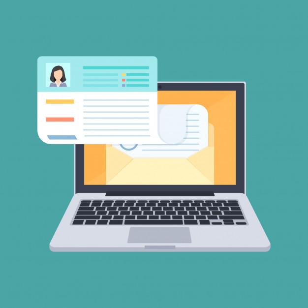 Premium Vector   Send cv, apply for job, upload resume concept illustration